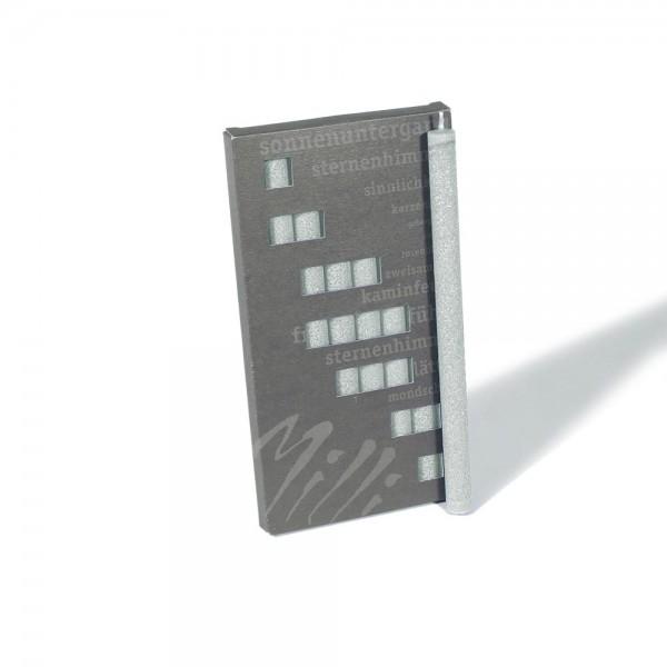 P19002 - Partykerzen Milli, hellgrau, Durchmesser 12mm, Länge 190mm