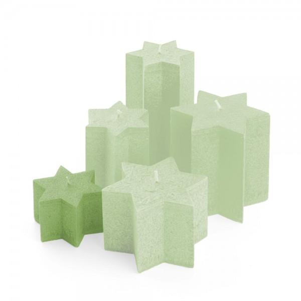 K06024 - Sternkerzen tannengrün, Durchmesser 100mm, Höhe 60mm
