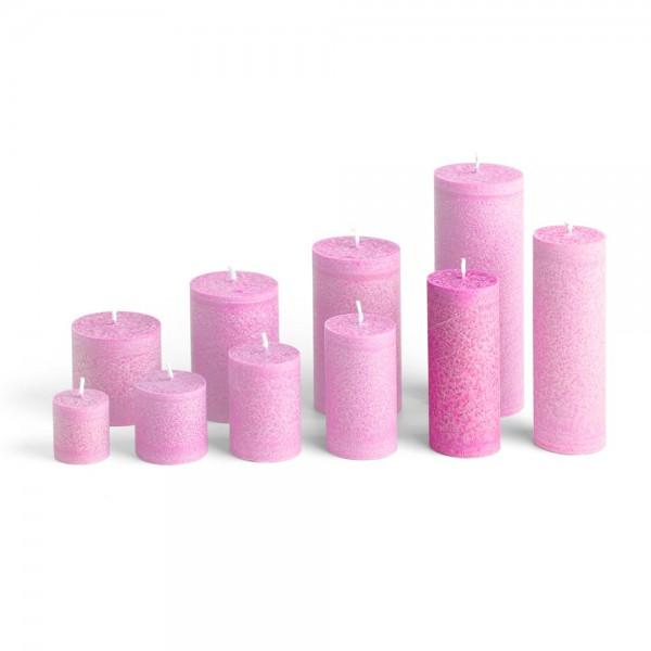 D12013 - Blockkerze pink, Durchmesser 50mm, Höhe 120mm