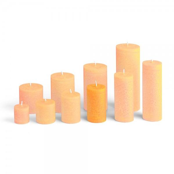 D09018 - Blockkerze orange, Durchmesser 50mm, Höhe 90mm
