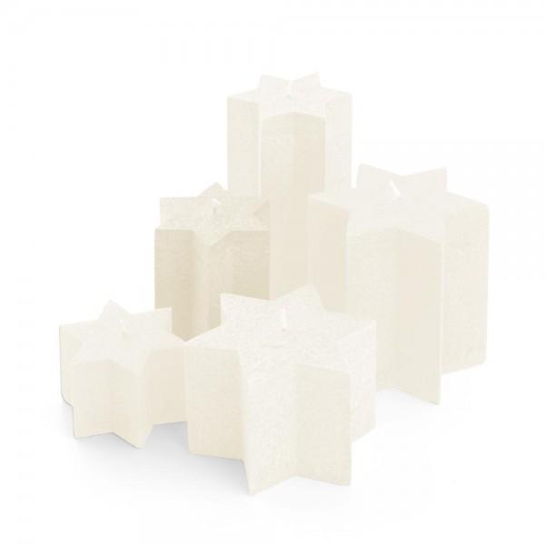 K11021 - Sternkerzen crème, Durchmesser 100mm, Höhe 110mm