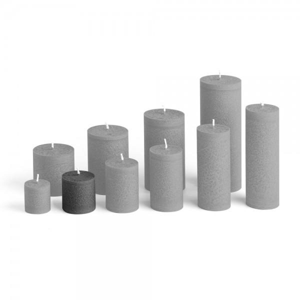 D05027 - Blockkerze anthrazit, Durchmesser 50mm, Höhe 50mm