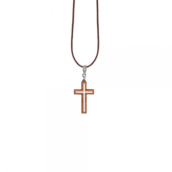 Schmuckholz Halskette Cross Minimal