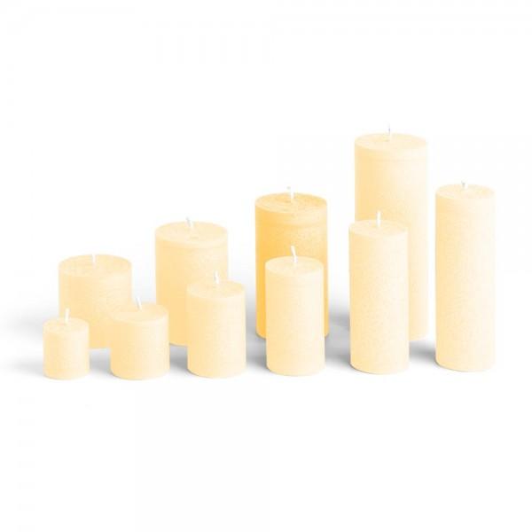 E12021 - Blockkerze crème, Durchmesser 65mm, Höhe 120mm
