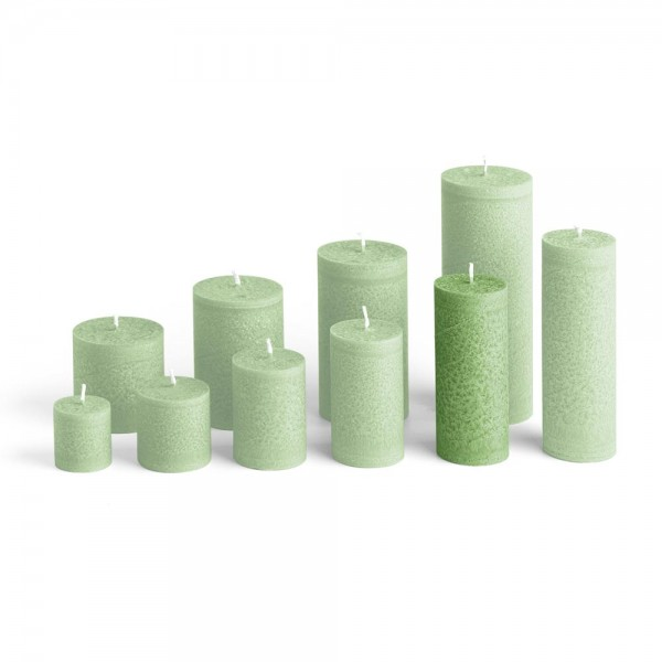 D12024 - Blockkerze tannengrün, Durchmesser 50mm, Höhe 120mm