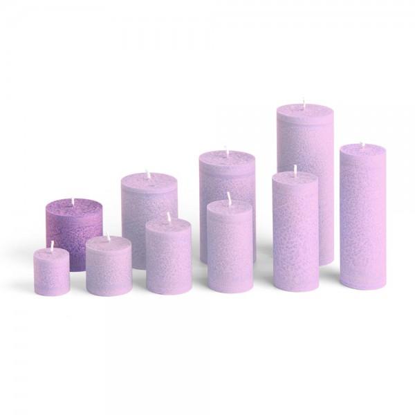E06510 - Blockkerze violett, Durchmesser 65mm, Höhe 65mm