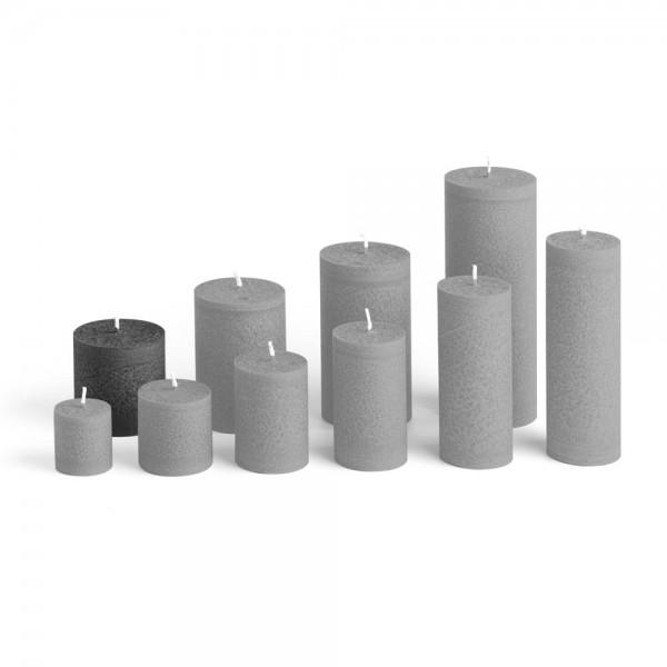 E06527 - Blockkerze anthrazit, Durchmesser 65mm, Höhe 65mm