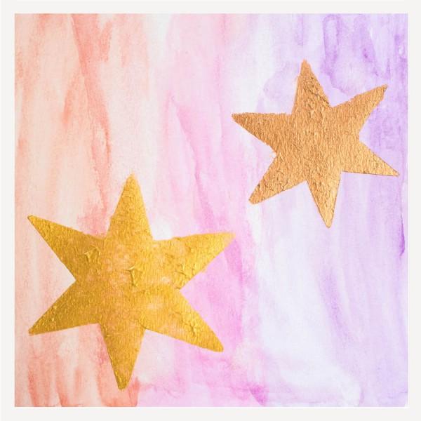 Weihnachtskarte - Stern im Quadrat