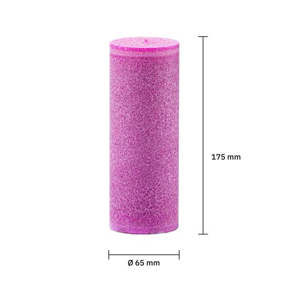 Blockkerze pink