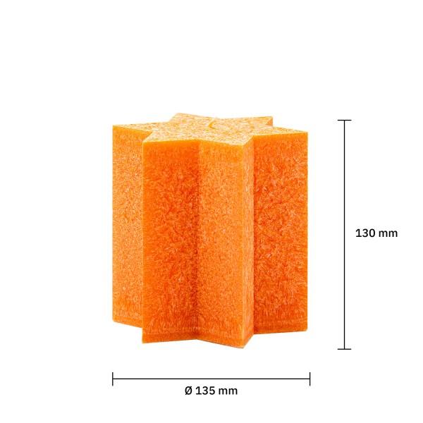 Sternkerze orange