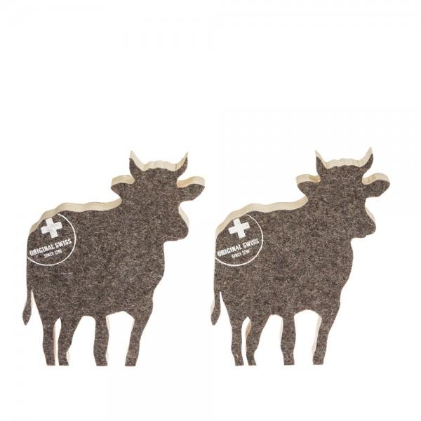 911656 - Kuh zum Aufstellen (2-tlg.) klein - Filz