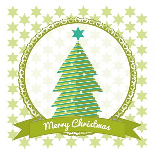 910469 - Perlenkarte Baum-grün