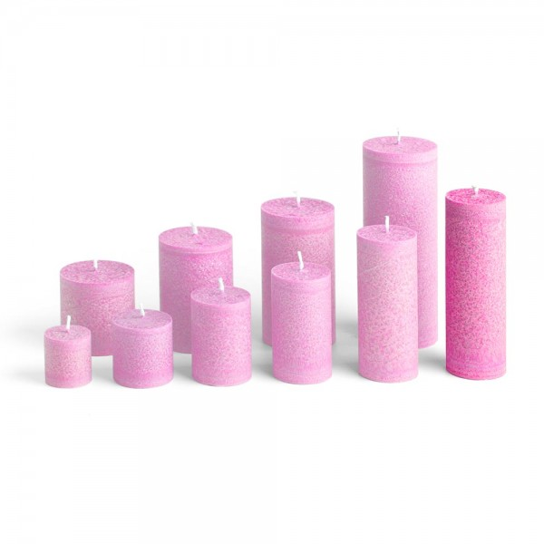 D15013 - Blockkerze pink, Durchmesser 50mm, Höhe 150mm