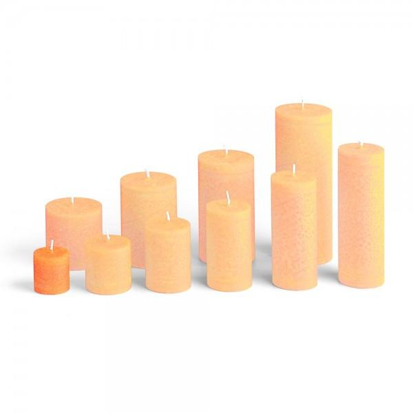 C04018 - Blockkerze orange, Durchmesser 38mm, Höhe 40mm