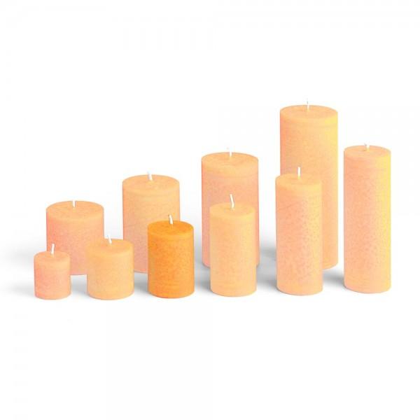 D07018 - Blockkerze orange, Durchmesser 50mm, Höhe 70mm