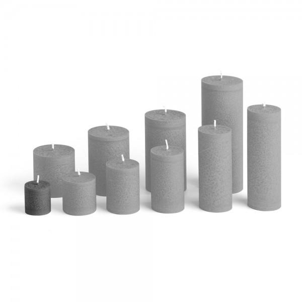 C04027 - Blockkerze anthrazit, Durchmesser 38mm, Höhe 40mm