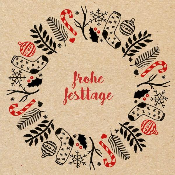 Weihnachtskarte - Natur-Festtage 2