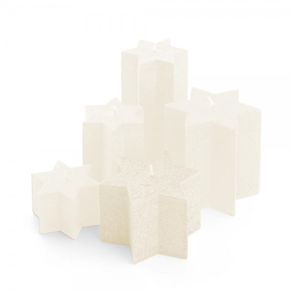 M08521 - Sternkerzen crème, Durchmesser 135mm, Höhe 85mm