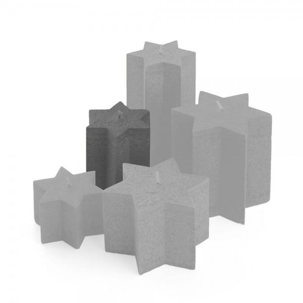 K11027 - Sternkerzen anthrazit, ⌀100mm, Höhe 110mm