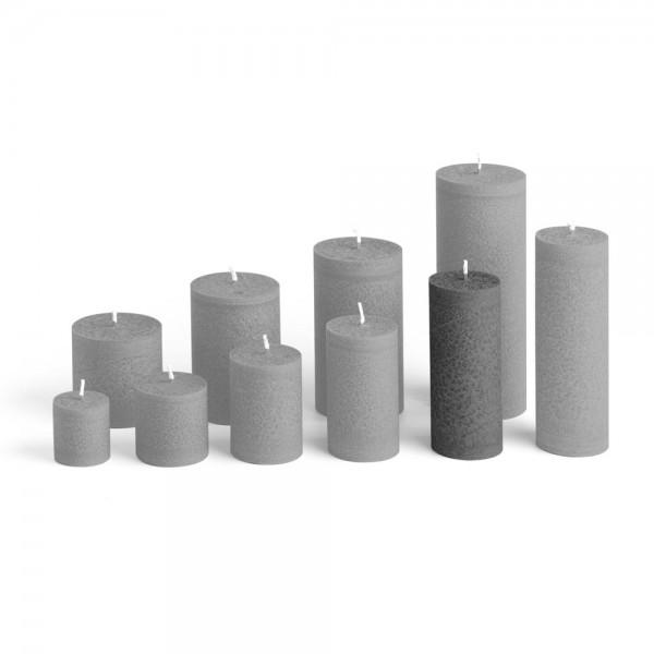 D12027 - Blockkerze anthrazit, Durchmesser 50mm, Höhe 120mm