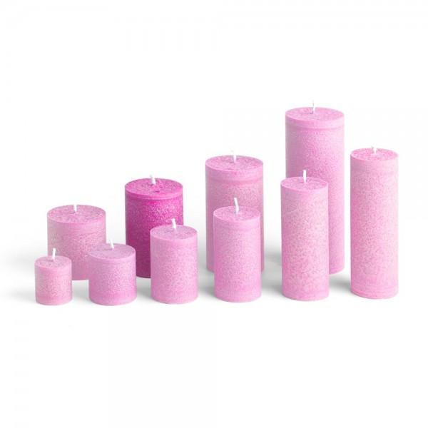 E09513 - Blockkerze pink, Durchmesser 65mm, Höhe 95mm