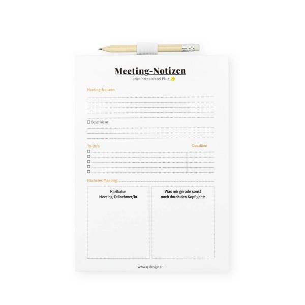 Notizblock - Meeting Notizen