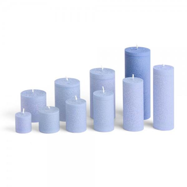 E17509 - Blockkerze marineblau, Durchmesser 65mm, Höhe 175mm
