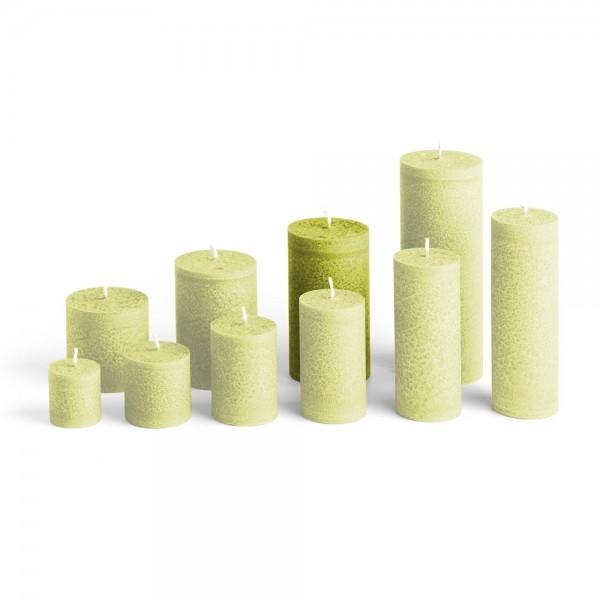 E12023 - Blockkerze hellgrün, Durchmesser 65mm, Höhe 120mm
