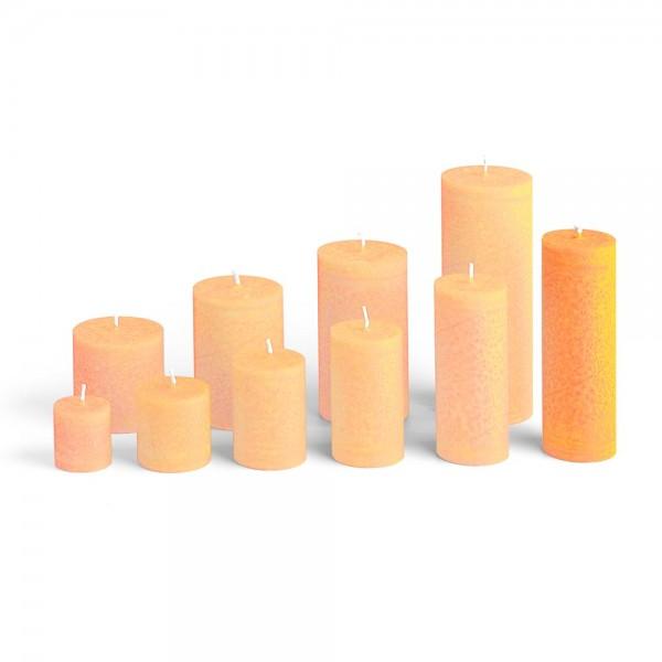 D15018 - Blockkerze orange, Durchmesser 50mm, Höhe 150mm