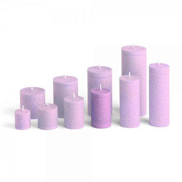 D09010 - Blockkerze violett, Durchmesser 50mm, Höhe 90mm