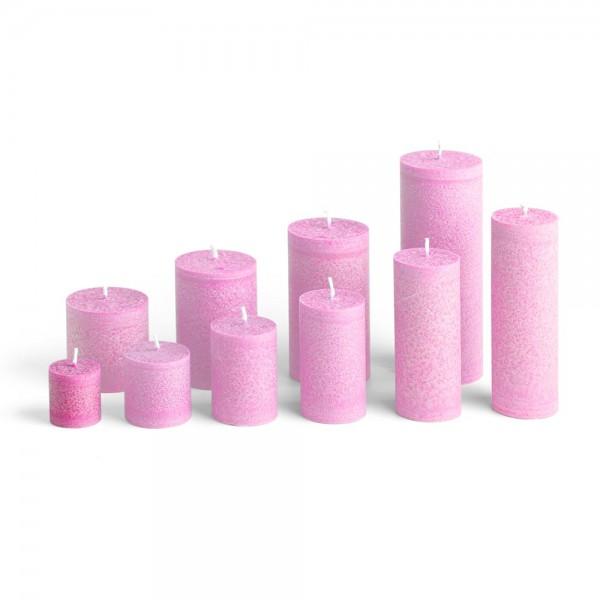 C04013 - Blockkerze pink, Durchmesser 38mm, Höhe 40mm
