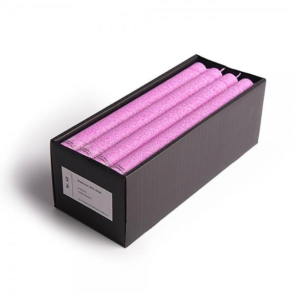 A24013S - 16 Stabkerzen Milli in Schachtel, pink