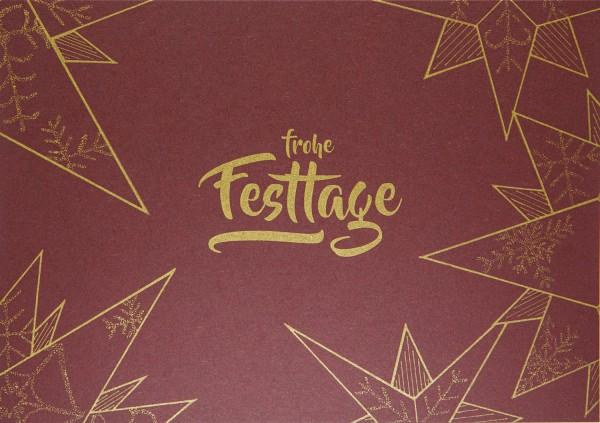 Weihnachtskarte - Festtage Stern A5