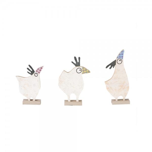 Gudruhn - Huhn als Frühlingsdekoration aus Holz