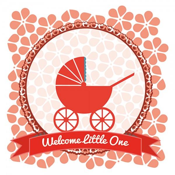 910455 - Perlenkarte Baby-rot