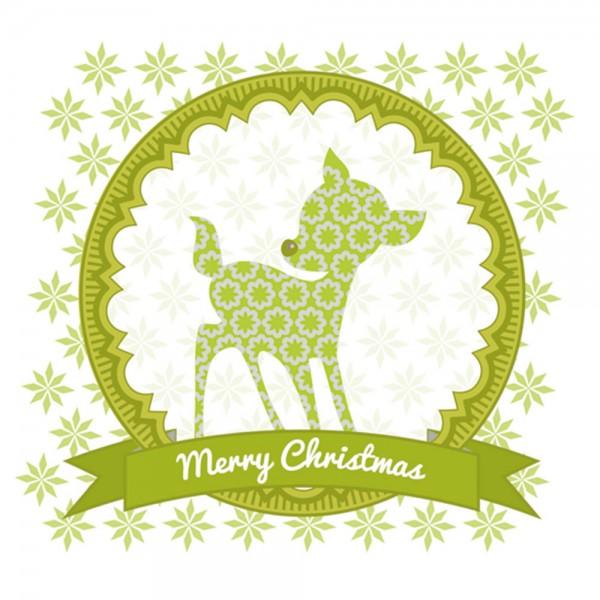 910479 - Perlenkarte Bambi-grün