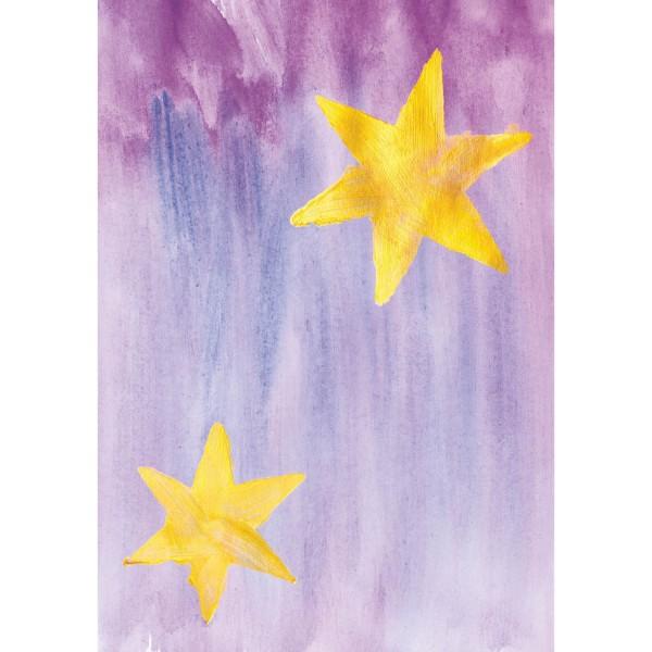 Weihnachtskarte - Sternenbild