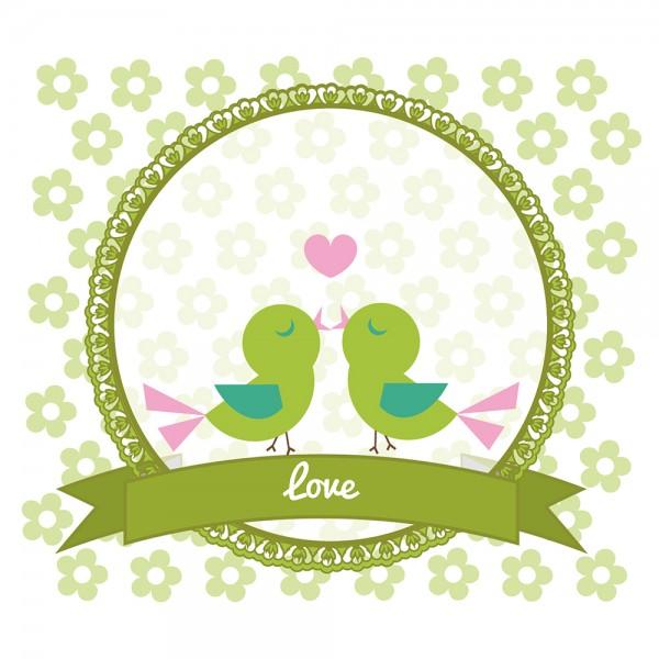 910484 - Perlenkarte Love-grün