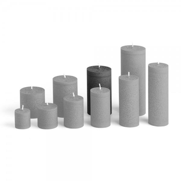E12027 - Blockkerze anthrazit, Durchmesser 65mm, Höhe 120mm