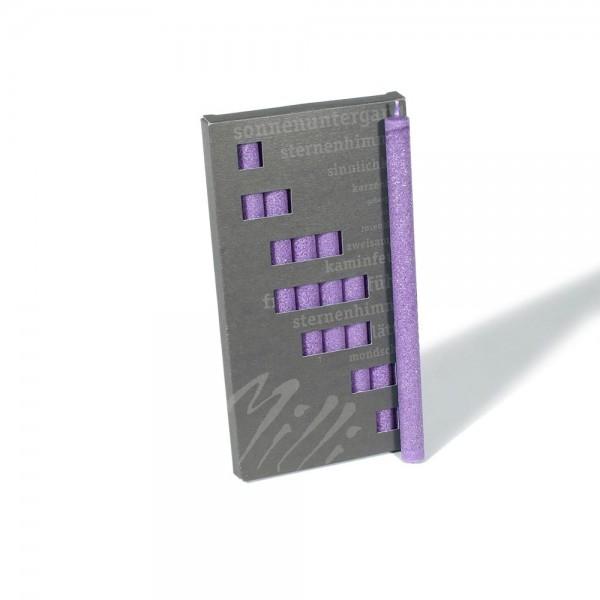 P19010 - Partykerzen Milli, violett, Durchmesser 12mm, Länge 190mm