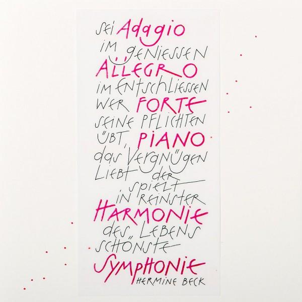 910223 - Sei Adagio im geniessen, Allegro im Entschliessen…