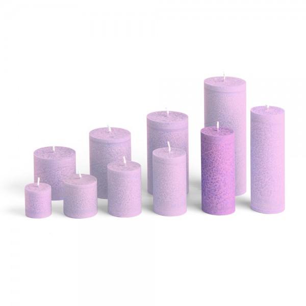 D12010 - Blockkerze violett, Durchmesser 50mm, Höhe 120mm