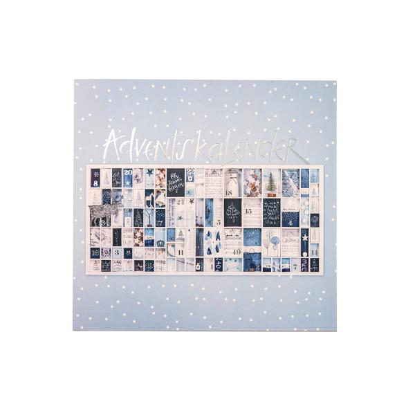 Adventskalender blau/silber - Oh Tannenbaum