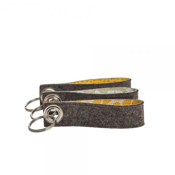 Schlüsselanhänger (3-tlg. gelb assortiert)