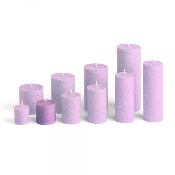 D05010 - Blockkerze violett, Durchmesser 50mm, Höhe 50mm