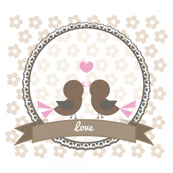 910481 - Perlenkarte Love-braun