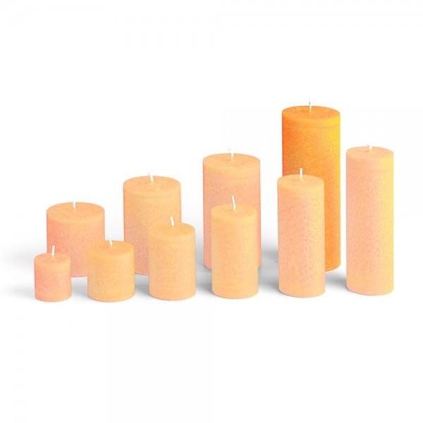 E17518 - Blockkerze orange, Durchmesser 65mm, Höhe 175mm