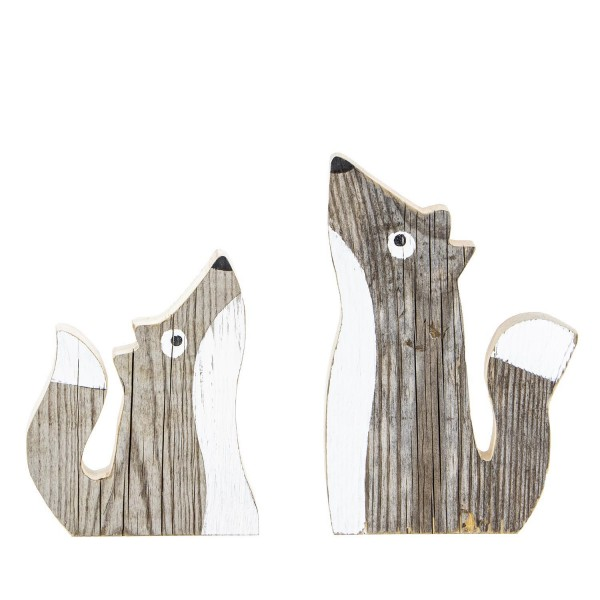 Duo Füchsli aus Recyclingholz