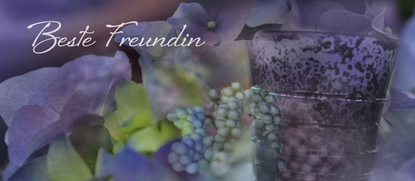 910606 - Windlichtkarte: Beste Freundin (Stilbild lila)