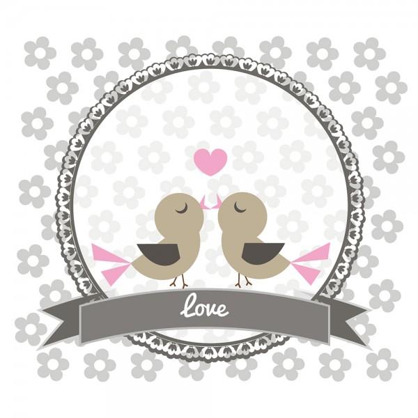 910482 - Perlenkarte Love-grau